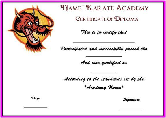 karate certificate templates - Josemulinohouse