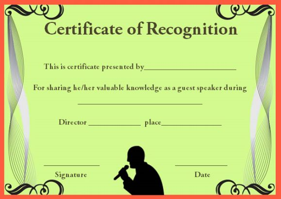 Certificate of Recognition Templates 30+ Best Ideas and Free