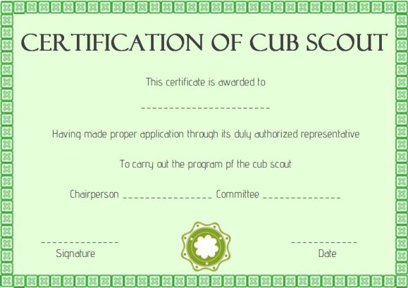 Scout Certificates Template12 Free Printables in Word Format - certificate of rank template