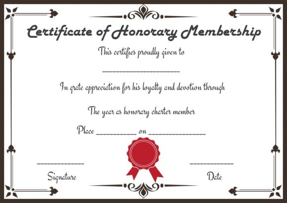 Free Membership Certificates 14 templates in Word Format (Ready to - membership certificate templates