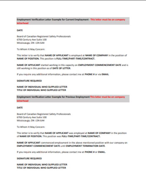 Employment Verification Letter 9 Best Templates for your Reference - example employment verification letter
