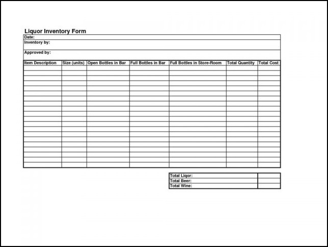 stock control form template - Akbagreenw - inventory form template