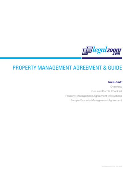 32 Property Management Agreement Templates For Residential and - management agreement