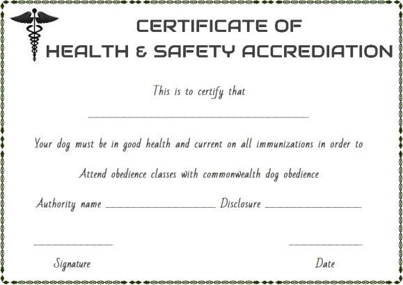pet health certificate template 9 word templates to download for