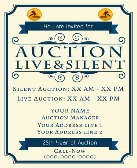 Silent Auction Flyer 10 Eye-Catching Flyer Templates for Free