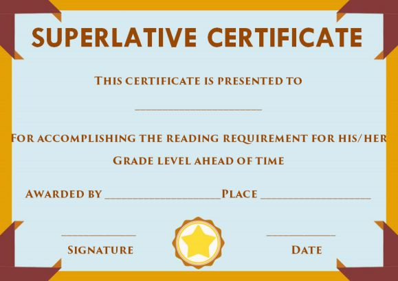 Superlative Certificate Template 10 Certificate designs to Use for - superlatives awards template