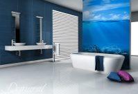 Great sky blue - Bathroom wallpaper mural - Photo ...