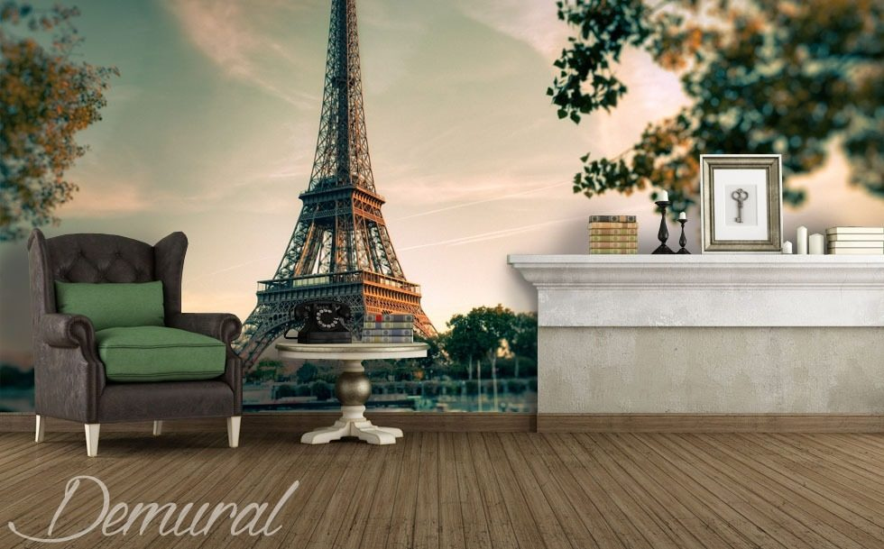 Paint Falling Wallpaper Under The Eiffel Tower Eiffel Tower Wallpaper Mural