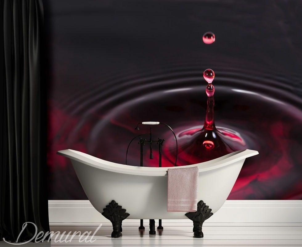 Purple Falling Circles Wallpaper Falling Water Drop Bathroom Wallpaper Mural Photo