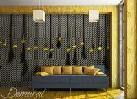 Hanging microphones - Teenager's room wallpaper, mural ...