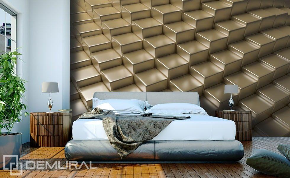 3d Wallpaper For Bedroom Uk Golden Platforms Three Dimensional Wallpaper Mural