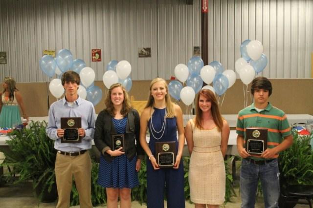 Cross Country Tyler Warren, Macy Kirk, Sydney Roberts, Kelsey Ferguson, Noah Bryant.
