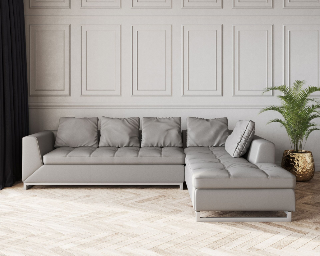 Buy Novara Leather Corner Sofa Online In London Uk Denelli Italia