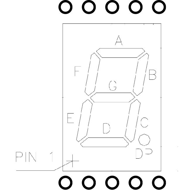 segment display pin out diagram 7 segment display pin out
