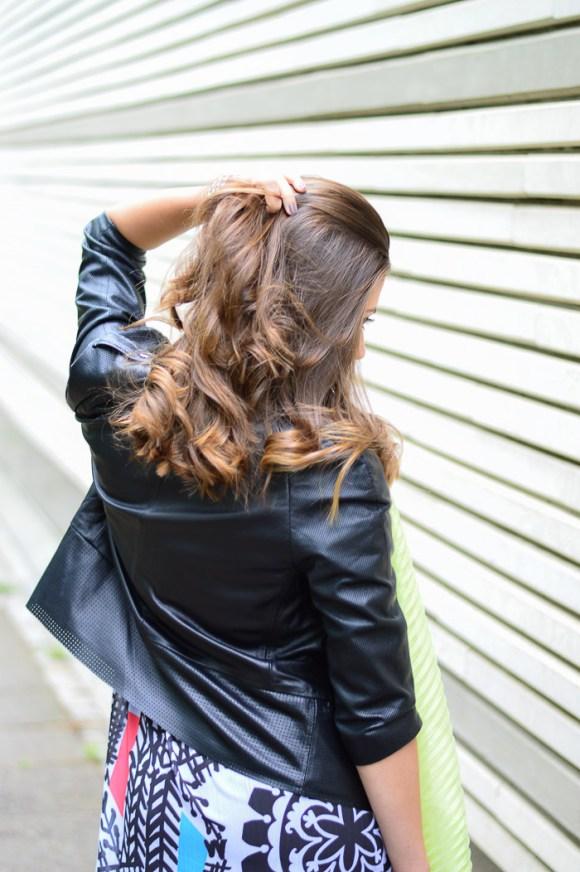 Liu Jo Leather Cropped Jacket Styled by Denina Martin