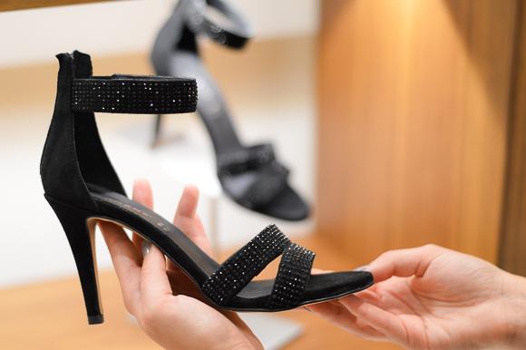 Carmens Vera Pelle Black Heeled Sandals available at Bulgaria Mall, selected by Denina Martin