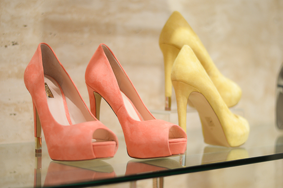 Guees Peep Toe heels in yellow available at Scandal, available at Bulgaria Mall Selected by Denina Martin