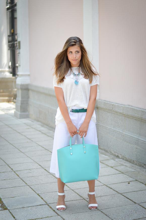 Bulgarian Fashion Blogger Denina Martin Wearing Total Stefanel Look from Bulgaria Mall