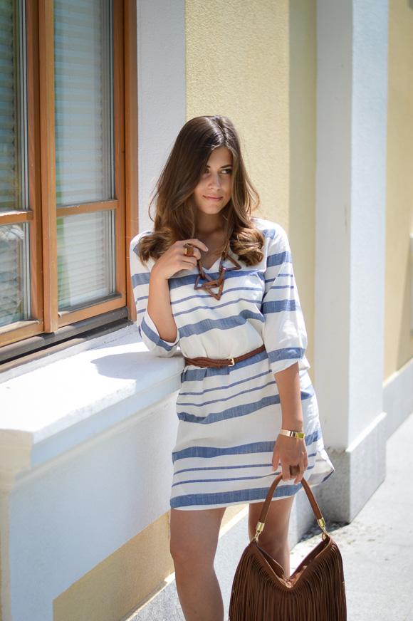 H&M Stripe Summer Dress Bulgaria Mall - Styled by Denina Martin