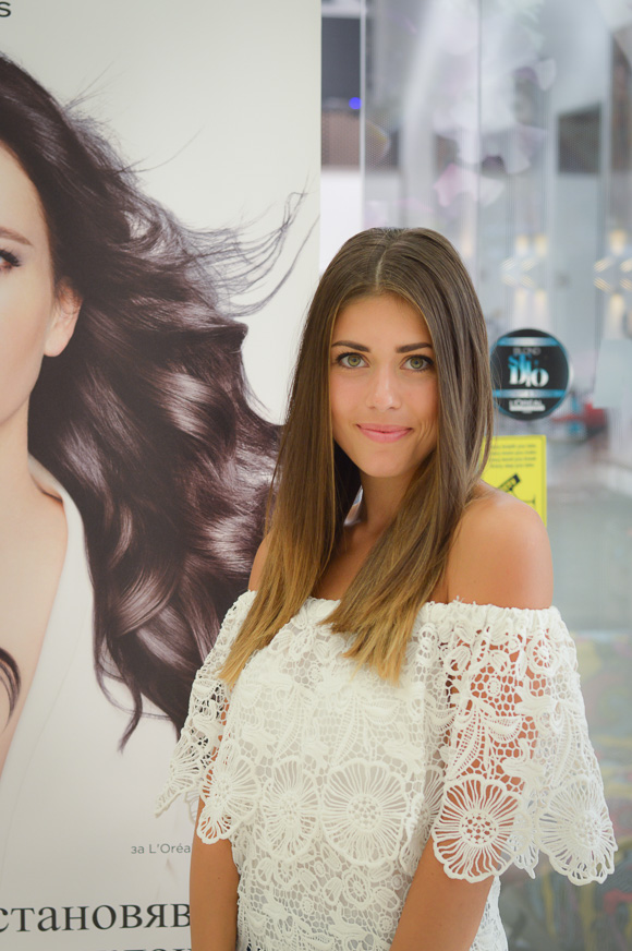 Denina Martin after a hair reconstruction treatment with Loreal Professionnel at Mr Snips