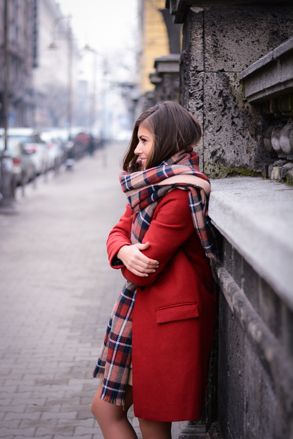 Winter-Red-Coat-Plaid-Scarf-Suede-Boots-Denina-Martin-10