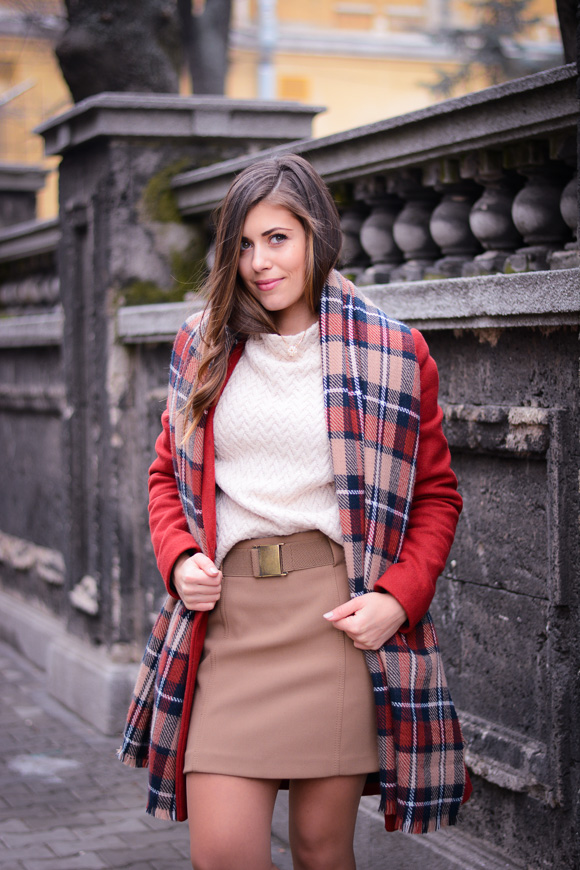 Winter-Red-Coat-Plaid-Scarf-Suede-Boots-Denina-Martin-3