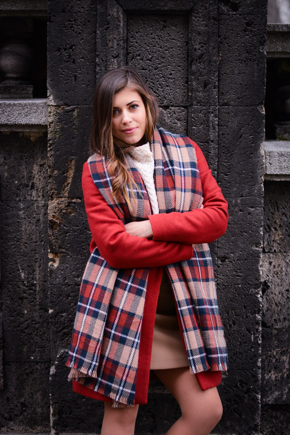 Winter-Red-Coat-Plaid-Scarf-Suede-Boots-Denina-Martin-6