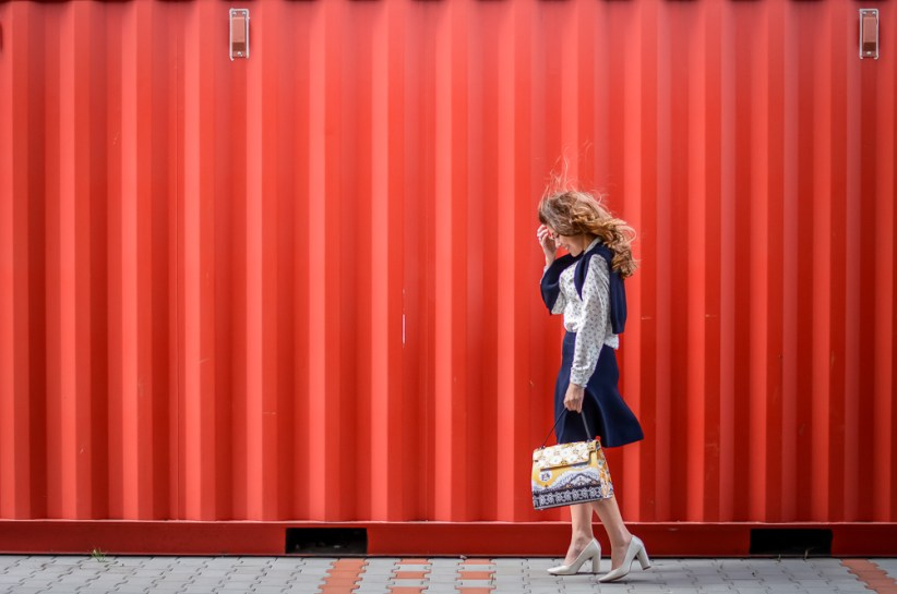 Hello March - Denina Martin wearing an outfit by Stefanel and Pronta