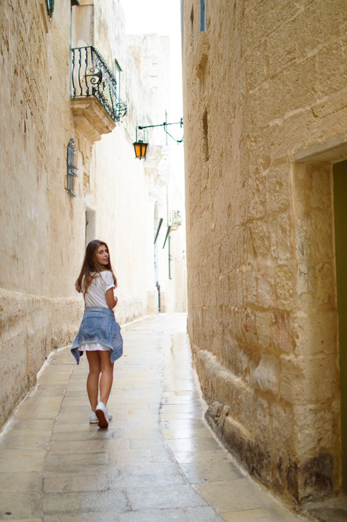 Curve streets of Mdina