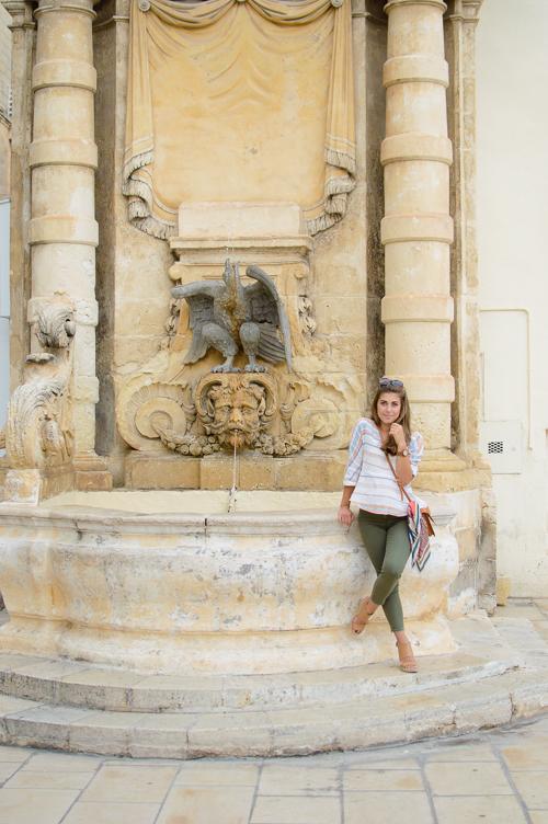 Fountain city of Valletta