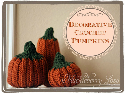 crochet pumpkins