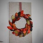 Fall Burlap Wreath Wall Design