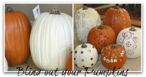 Blinged out Pumpkins
