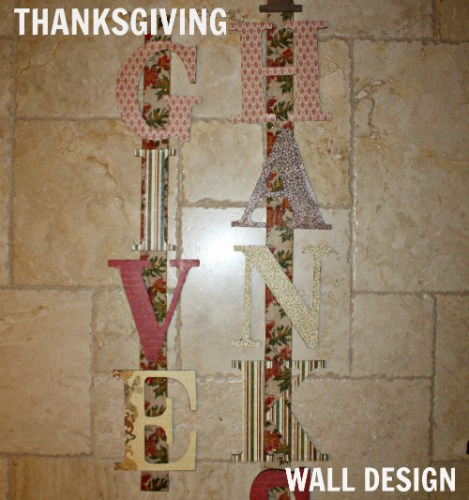 Thanksgiving DIY Wall Art