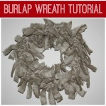 burlap wreath tutorial 150x150 Christmas Tablescape