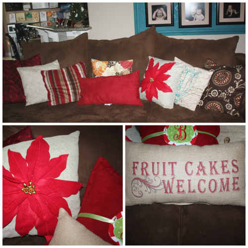 christmas home tour pillows