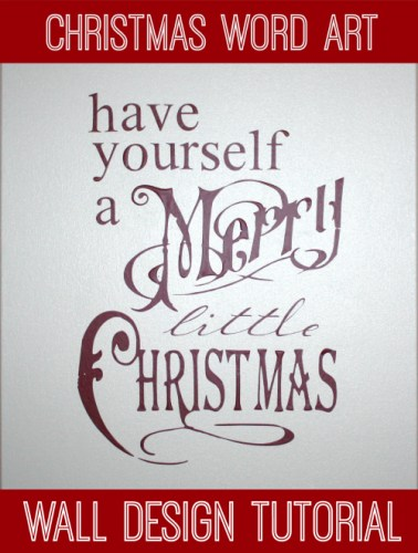 Christmas Canvas Word Wall Design Tutorial