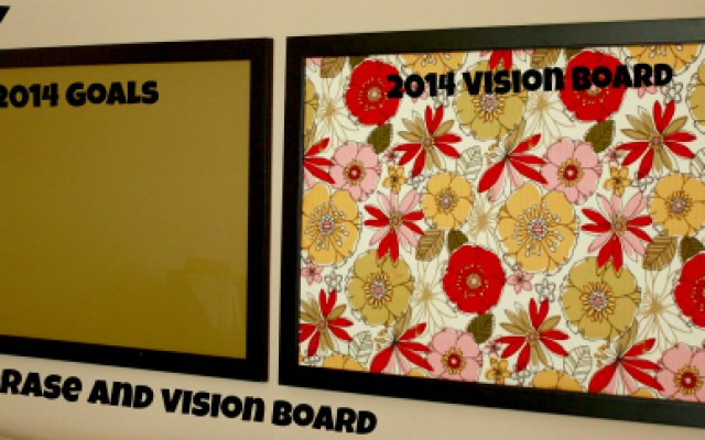 dry erase and vision board feature