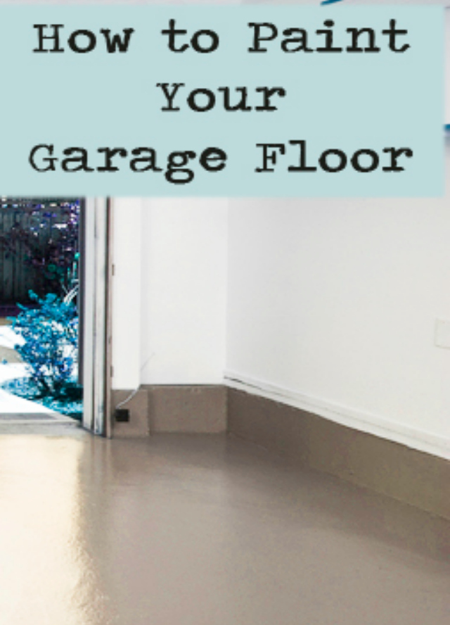 5 weekend diy projects denise designed for Diy garage floor cleaner