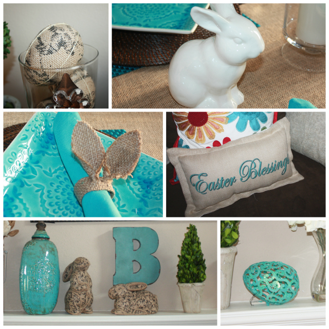 Spring Home Tour Easter Collage