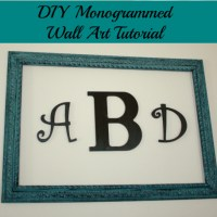 DIY Monogrammed Wall Art Tutorial