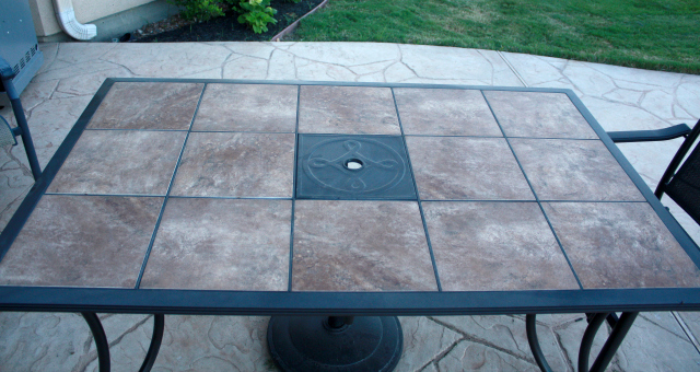Refreshed Patio Table Finished