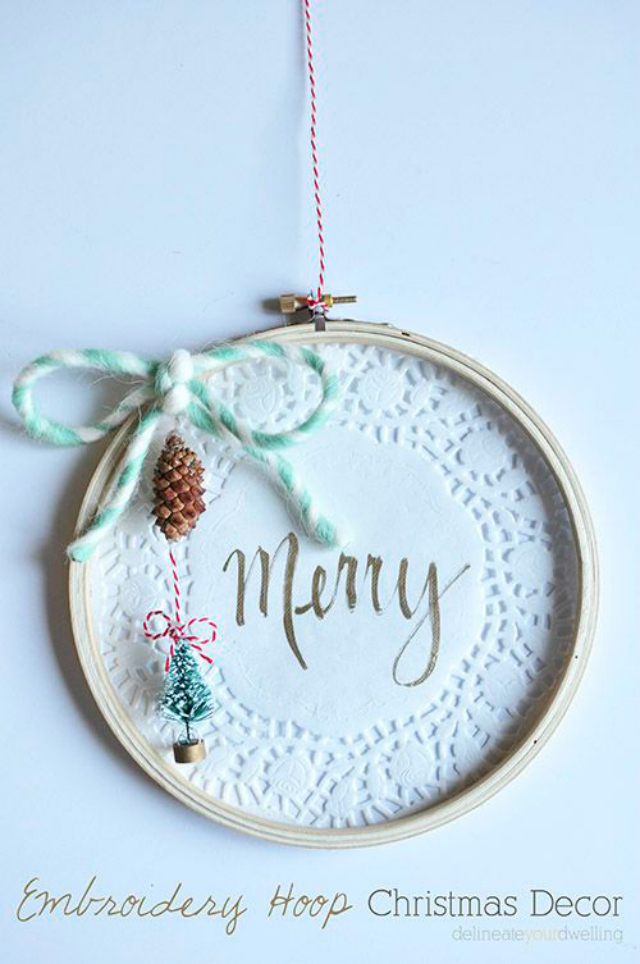 embroidery christmas decor