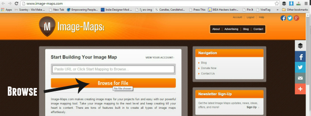 image maps browse