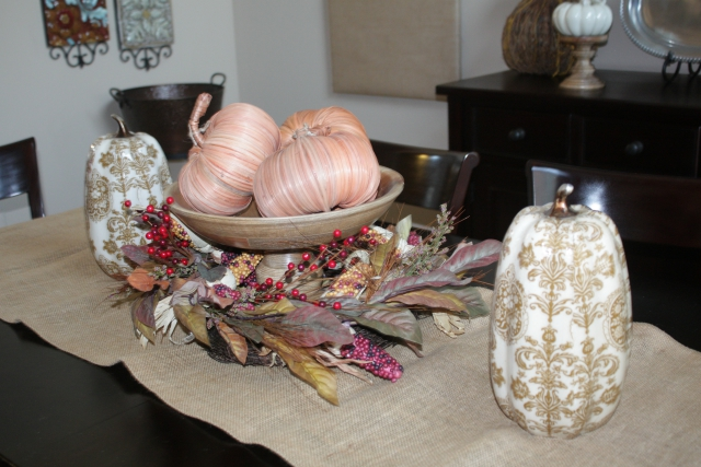 Fall Decor Ideas Burlap Table Runner