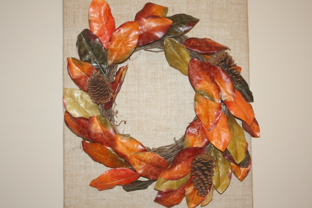 Fall Decor Ideas Burlap Wall Design
