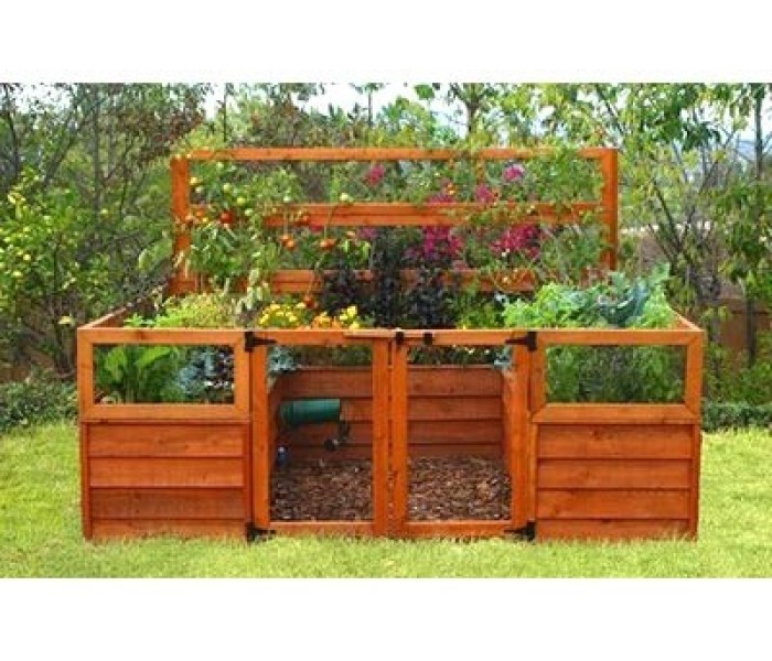 enclosed raised bed