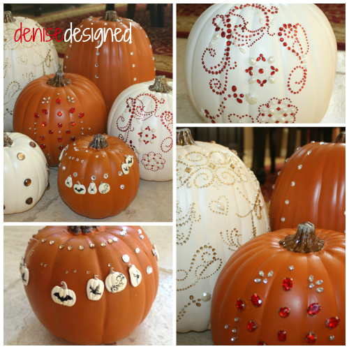 http://denisedesigned.com/2013/10/08/blinged-out-pumpkins/