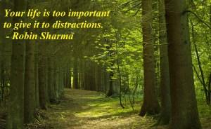 No distractions robin sharma