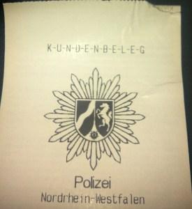 Polizei-Kundenkarten